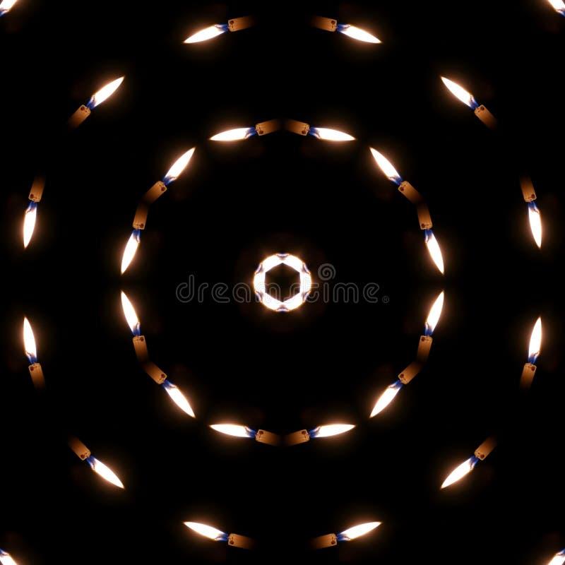 Simples Kaleidoscope Editar com Velas ilustração do vetor