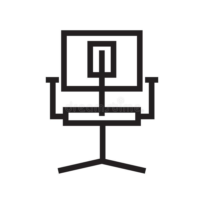 Simples moderno dos ícones da cadeira do espaço de trabalho ilustração royalty free