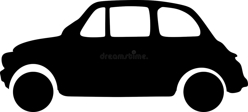 Simples moderno luxuoso preto do carro s do vetor ilustração stock