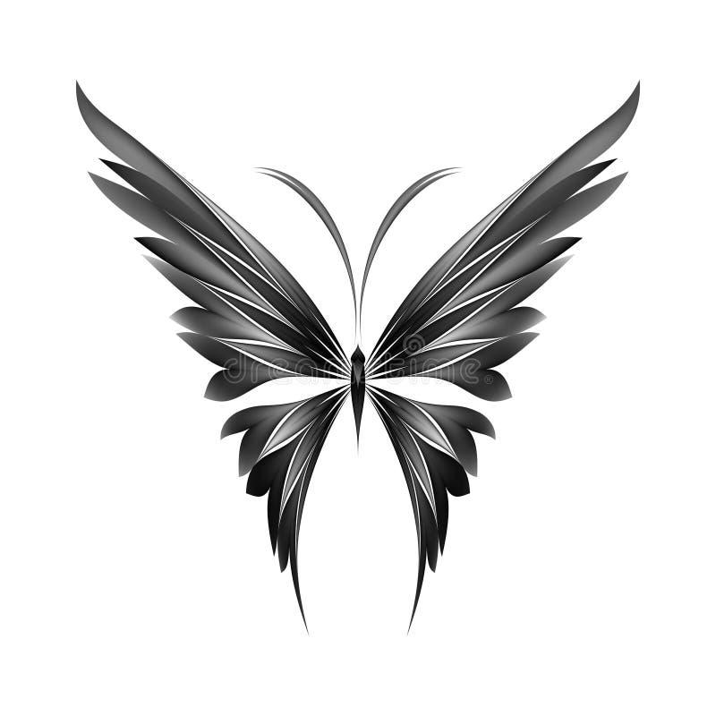 Simplesmente borboleta ilustração royalty free