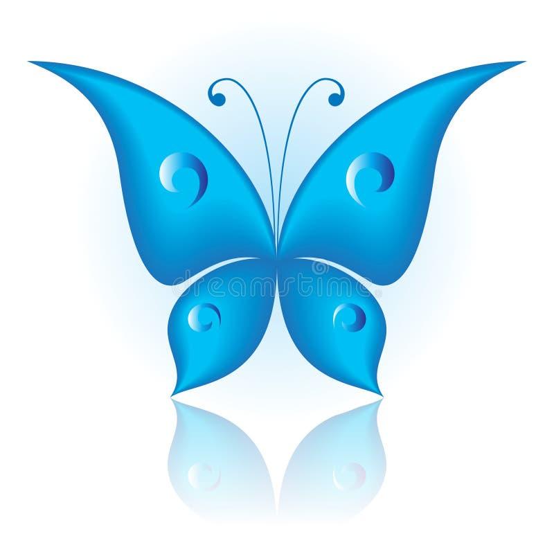 Simplesmente borboleta ilustração stock