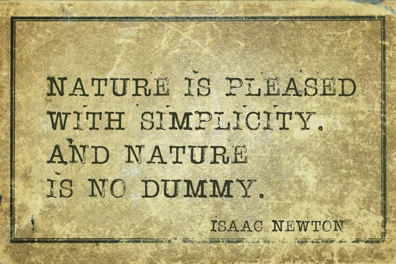 Simplicidad Newton de la naturaleza imagen de archivo libre de regalías