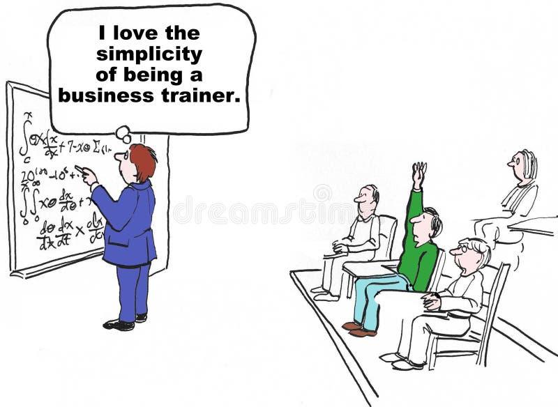 Simplicidade do instrutor do negócio ilustração stock