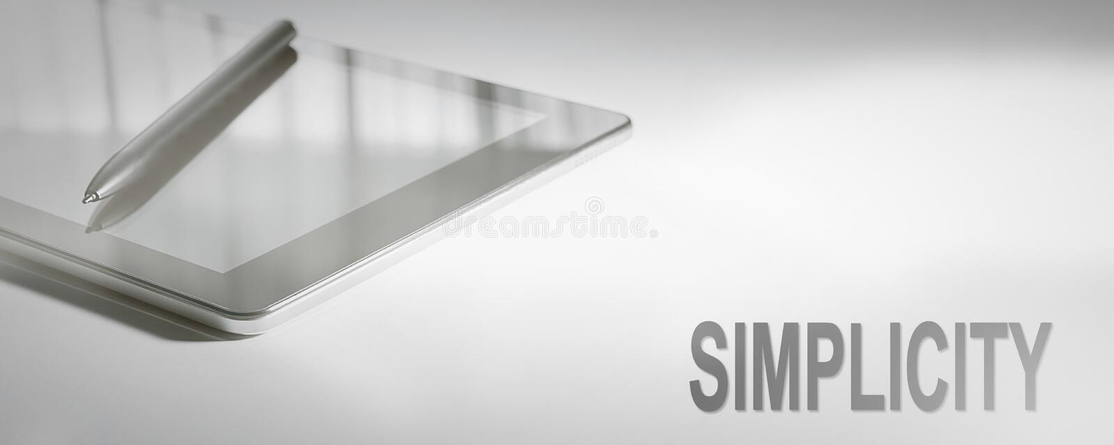 SIMPLICITY Business Concept Digital Technology. Graphic Concept stock image