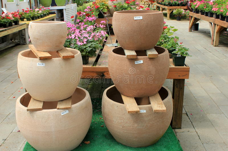 planters set of planter smoked wire stands clay and