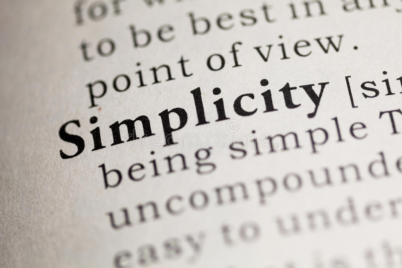 Simplicity stock image