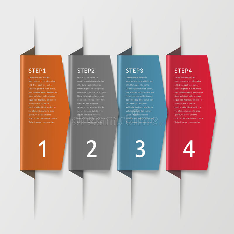 Simplicity infographic design royalty free illustration
