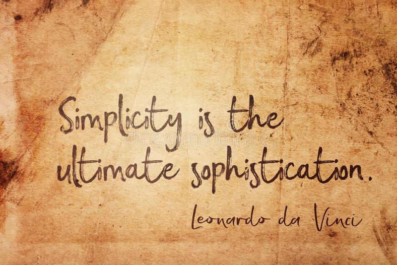 Simplicity is Leonardo vector illustration