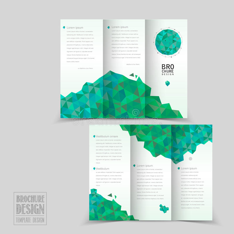 Simplicity Tri Fold Brochure Template Design Stock Vector