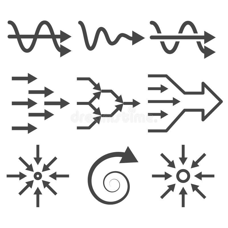Simplifique o grupo do ícone ilustração stock