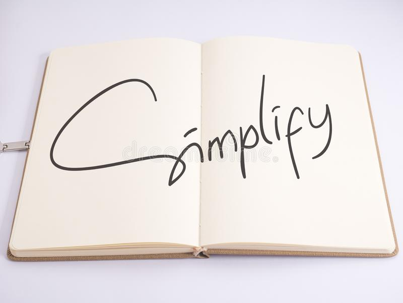 Simplify, Motivational Business Words Quotes Concept royalty free stock image