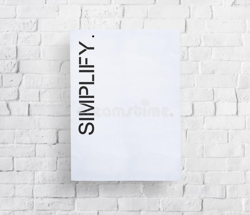 Simplify Simpleness Clarify Easiness Minimal Concept royalty free stock image