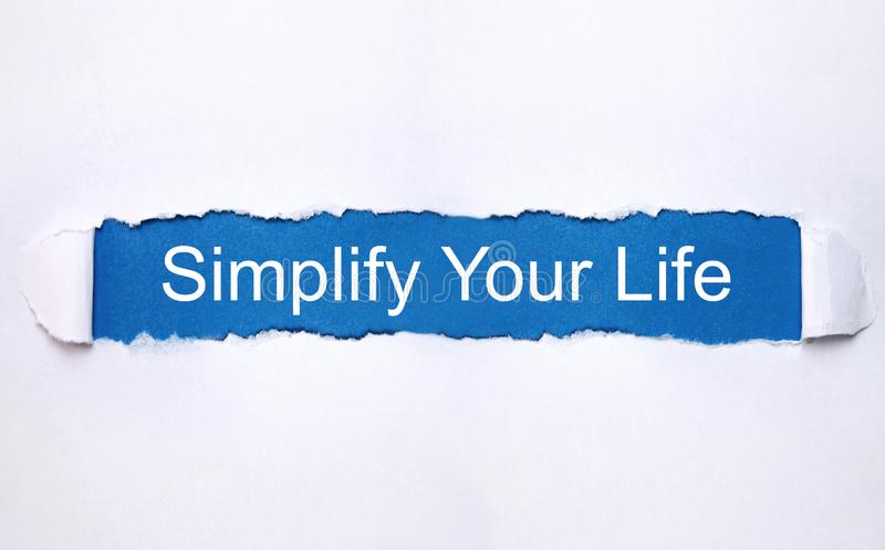 Simplify Your Life. Business concept royalty free stock images