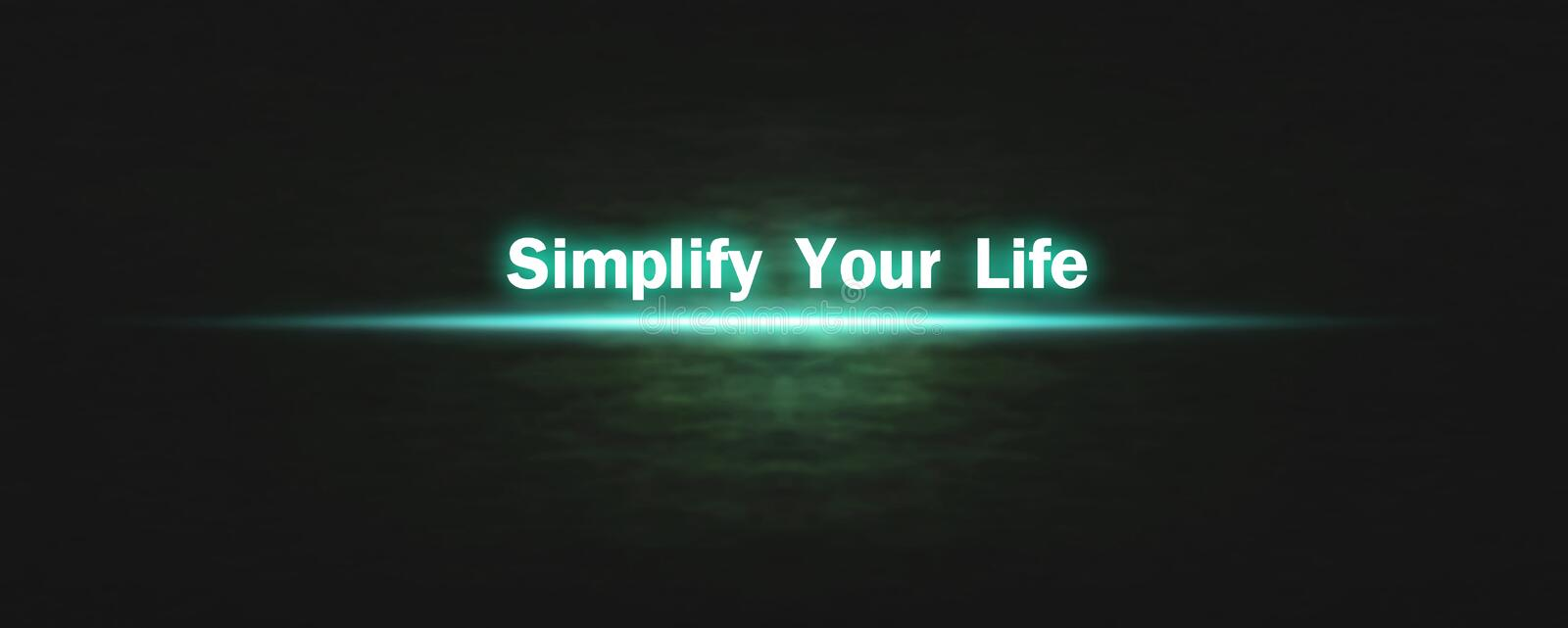 Simplify Your Life. Business concept stock photo
