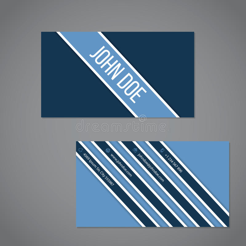 Simplistic Business Card With Stripe Design Stock Vector ...