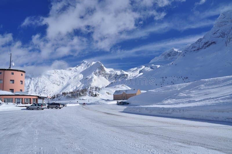 Simplonpas, Zwitserse Alpen, Wallis. stock fotografie