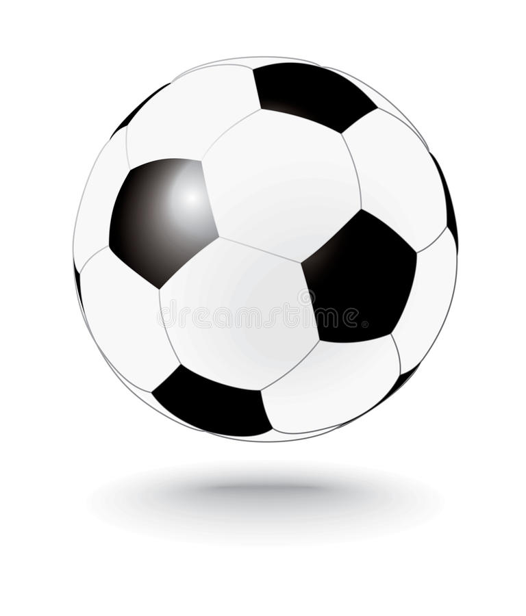 Download Simply Black And White Soccerball, Football Stock Image - Image: 9549061