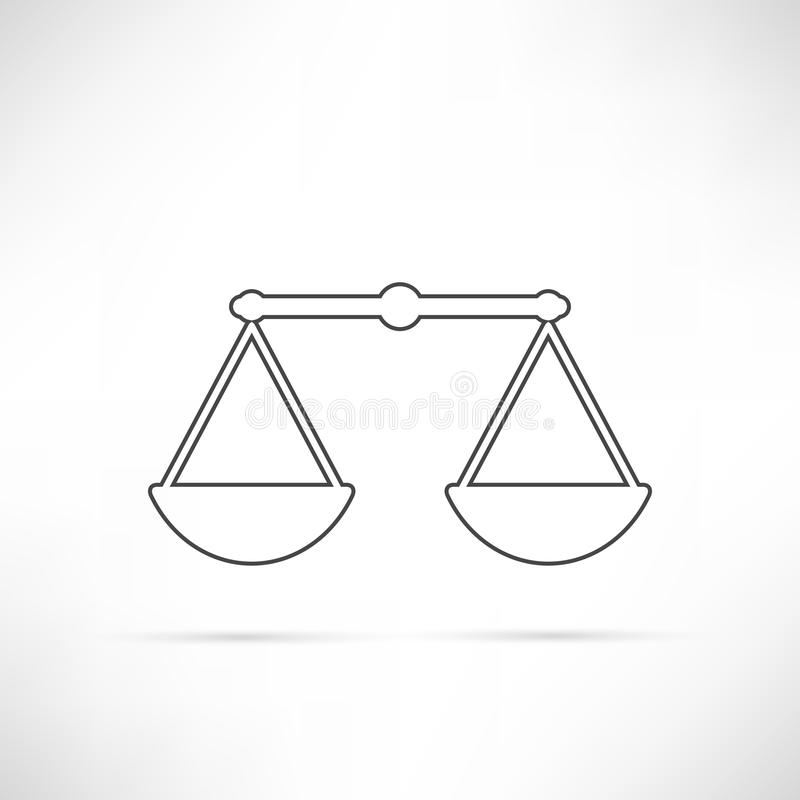 Simply Compare Icon Outline royalty free illustration