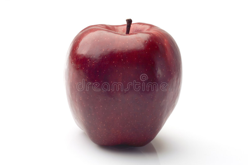 Simply, a red apple stock image