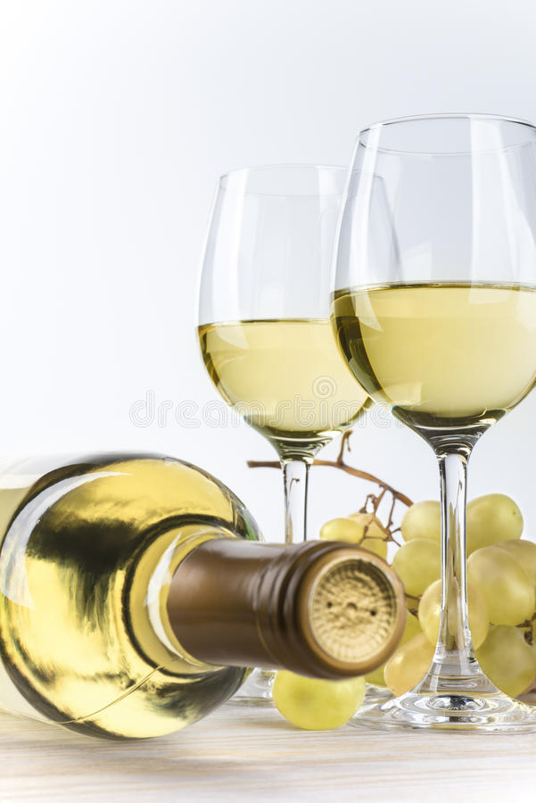 Simply white wine royalty free stock photography