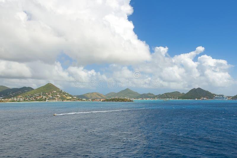 Simpson Trzymać na dystans grzech Maarten - Karaibska tropikalna wyspa - fotografia royalty free