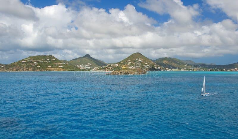Simpson Trzymać na dystans grzech Maarten - Karaibska tropikalna wyspa - zdjęcia stock