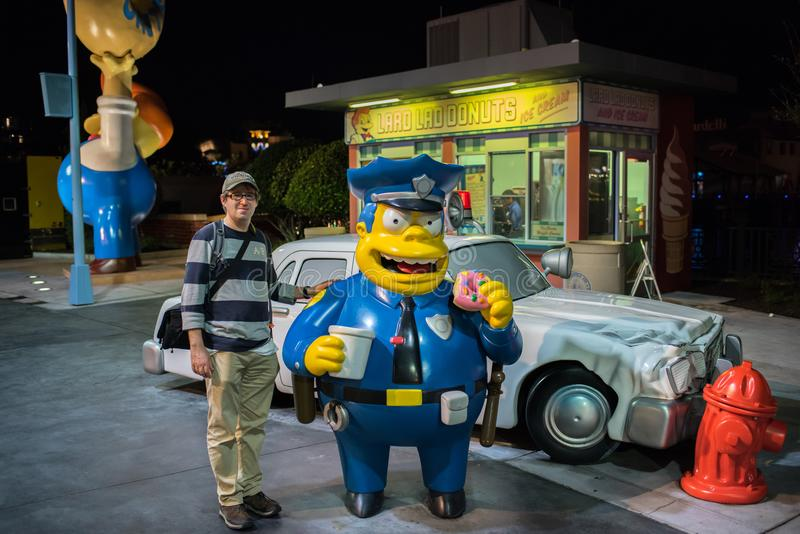 The Simpsons area at Universal Studios Florida. royalty free stock photo