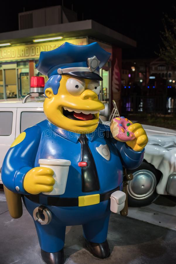 The Simpsons area at Universal Studios Florida. stock photography