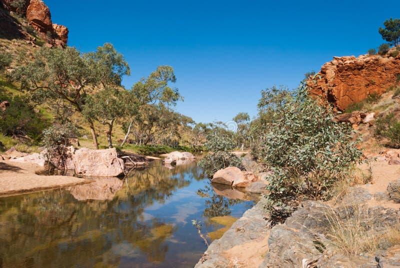 Simpsons Gap, gamme di MacDonnell, Australia fotografia stock libera da diritti