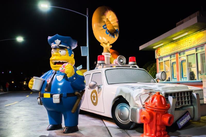 Simpsons teren przy universal studio Floryda obraz royalty free