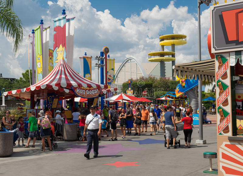 Simpsons themed area at the Universal Studios Florida royalty free stock images