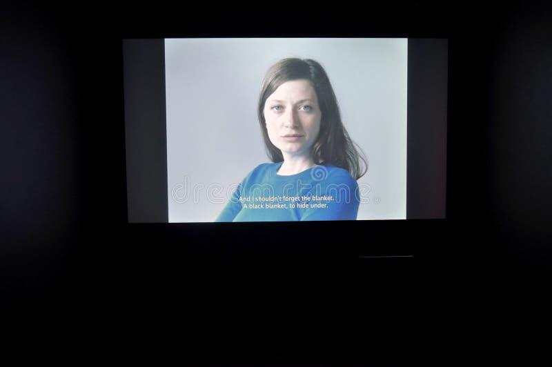 simsalabim Youngart Internationell modern konst biennale i Moskva royaltyfria foton