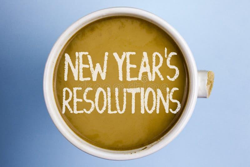 Simsen Sie das Zeichen, das neues Jahr \ 's-Beschlüsse zeigt Begriffsfoto Ziel-Ziele visiert Entscheidungen für die folgenden 365 stockfotografie