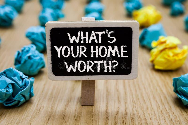 Simsen Sie Zeichenvertretung, welches s wert Frage Ihr Haupt ist Begriffsfoto Wert eines Grundbesitz-Selbstkostenpreis-Rate Paper stockfotografie