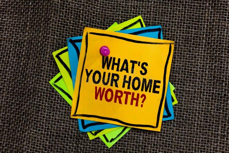 Simsen Sie Zeichenvertretung, welches s wert Frage Ihr Haupt ist Begriffsfoto Wert eines Grundbesitz-Selbstkostenpreises Rate Bla stockfotografie