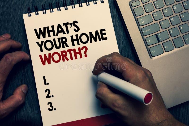 Simsen Sie Zeichenvertretung, welches s wert Frage Ihr Haupt ist Begriffsfoto Wert von Grundbesitz-Selbstkostenpreis-Rate Written lizenzfreie stockfotos