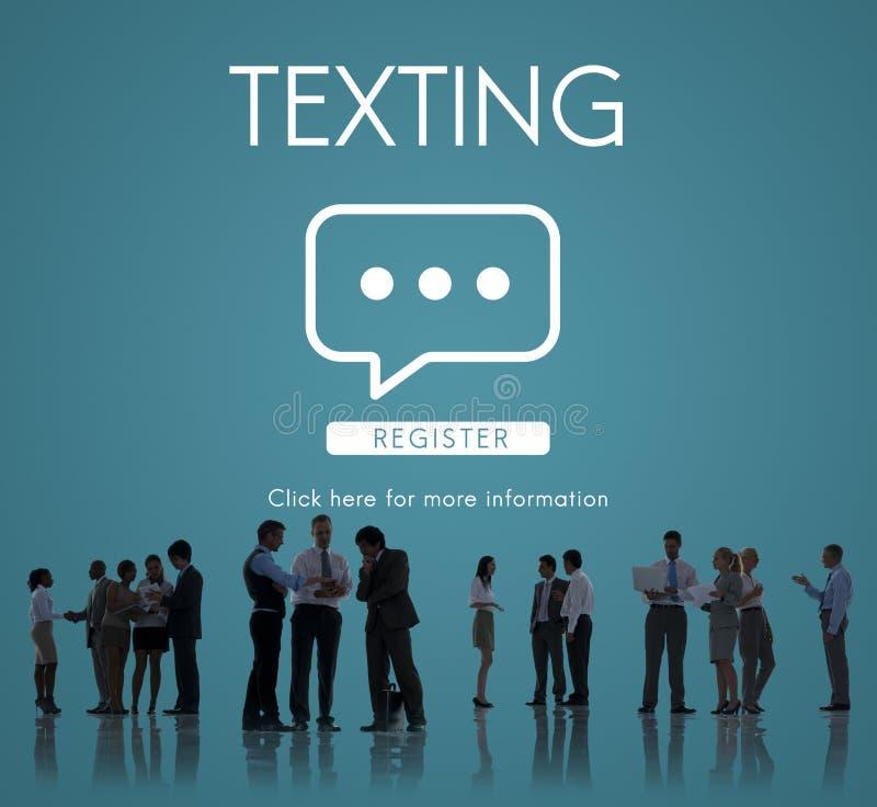 Simsendes Kommunikations-on-line-Gesprächs-Konzept stockfoto