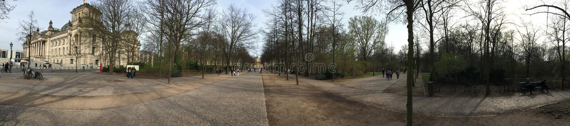 Simsonweg alley panorama, Berlin royalty free stock photos