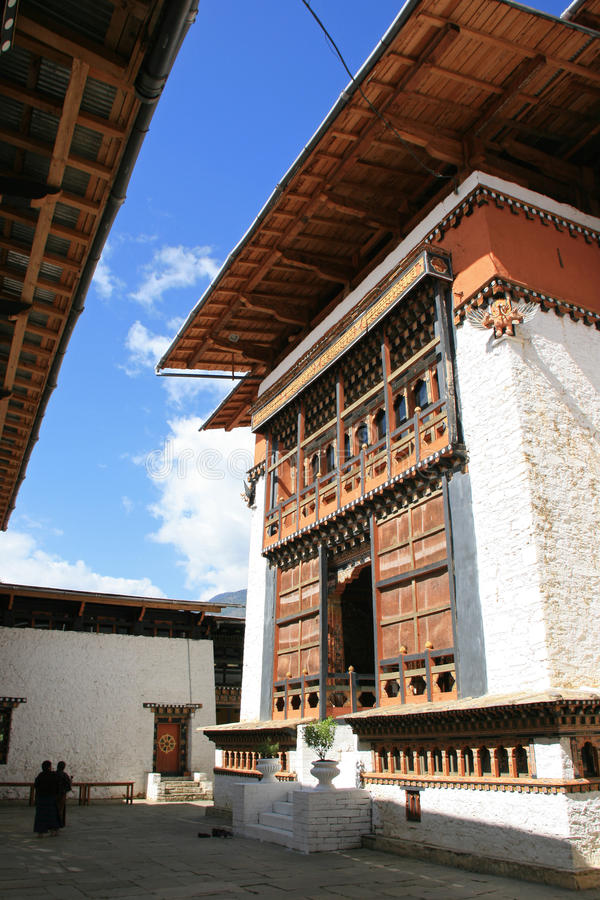 Simtokha Dzong - Тхимпху - Бутан стоковые фото