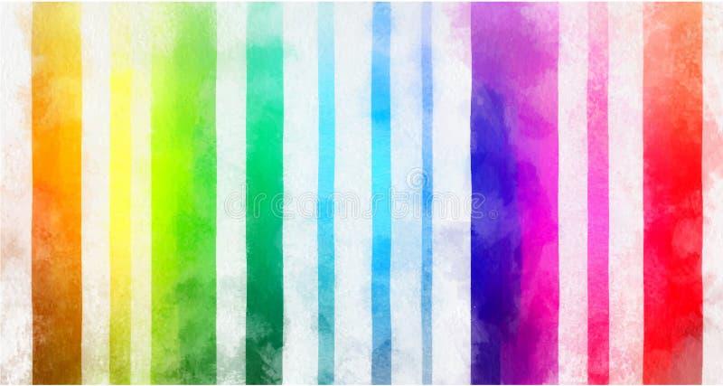 Simulação de Digitas da pintura multicolored ilustração stock
