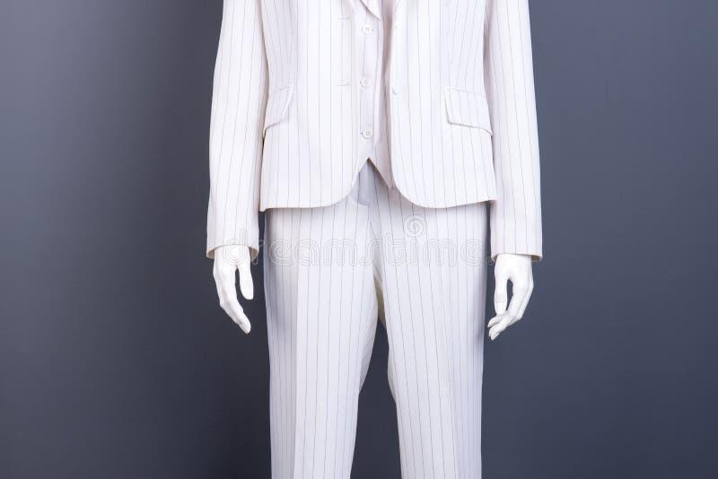 Simulacre dans le costume rayé blanc, image cultivée photos libres de droits