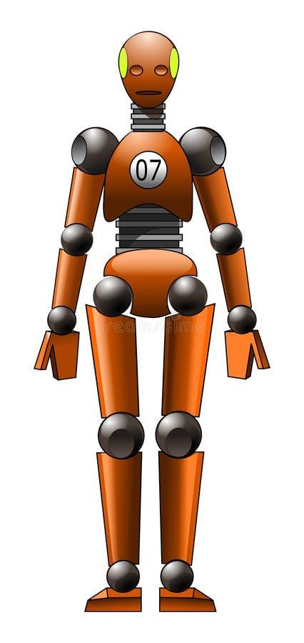 Simulacre orange d'essai d'accident images stock