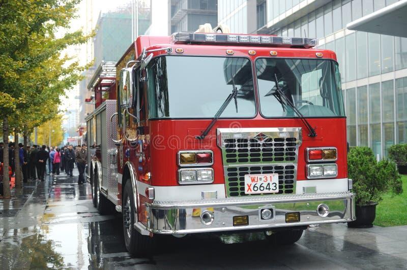 Simulacro de incendio imagen de archivo