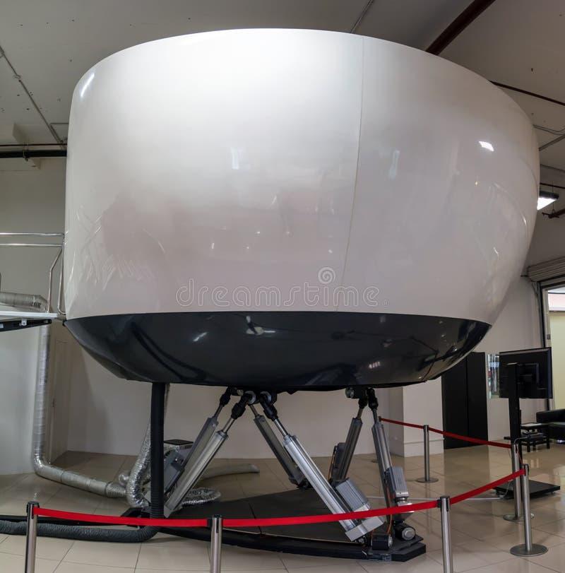 Simulador del entrenamiento de la aviación civil imagenes de archivo