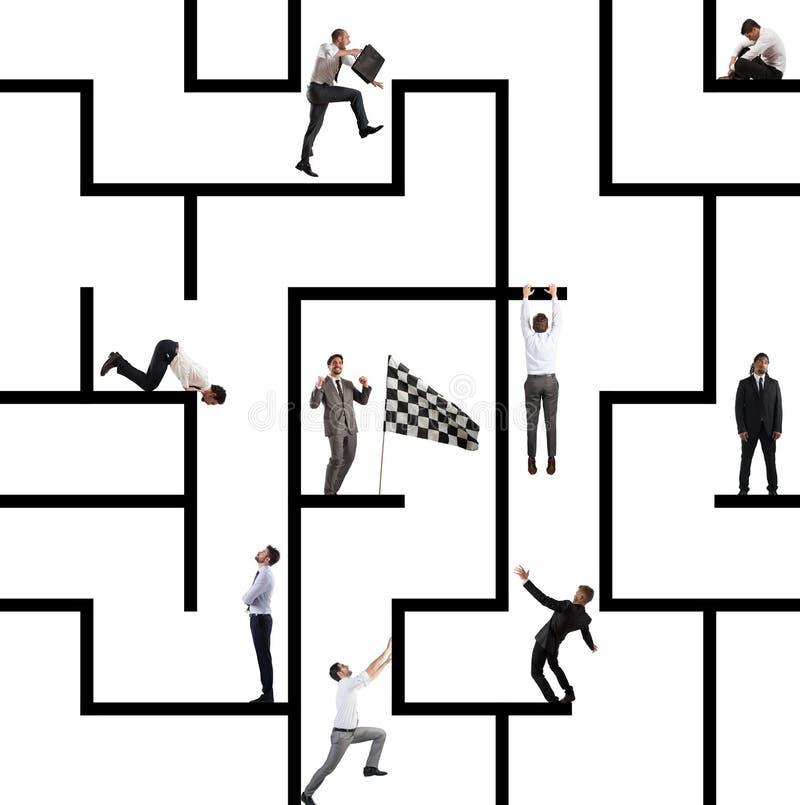 Simulation de gestion de labyrinthe image stock