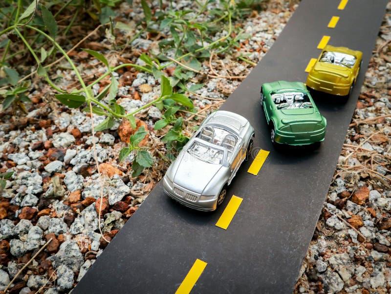 Simulation de trafic par modèle automobile photo stock