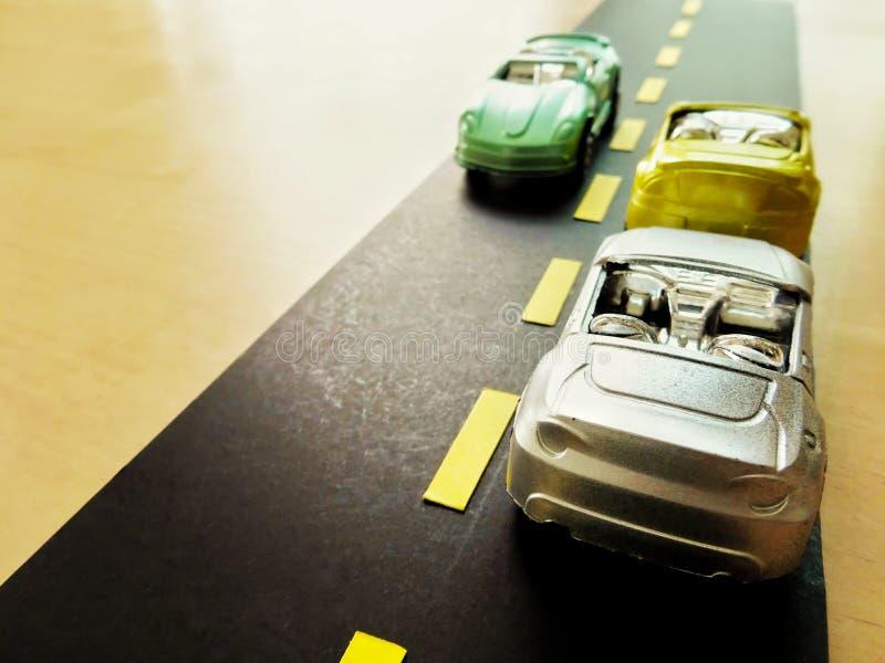 Simulation de trafic par modèle automobile images stock
