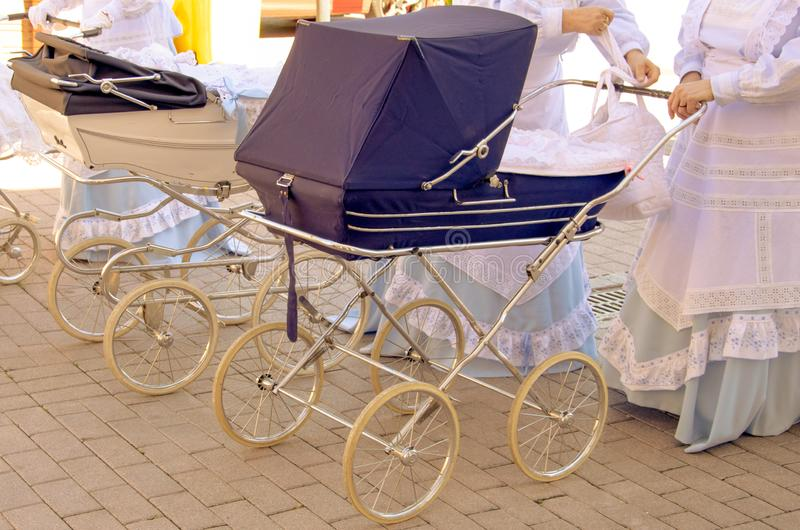 Baby strollers. royalty free stock image