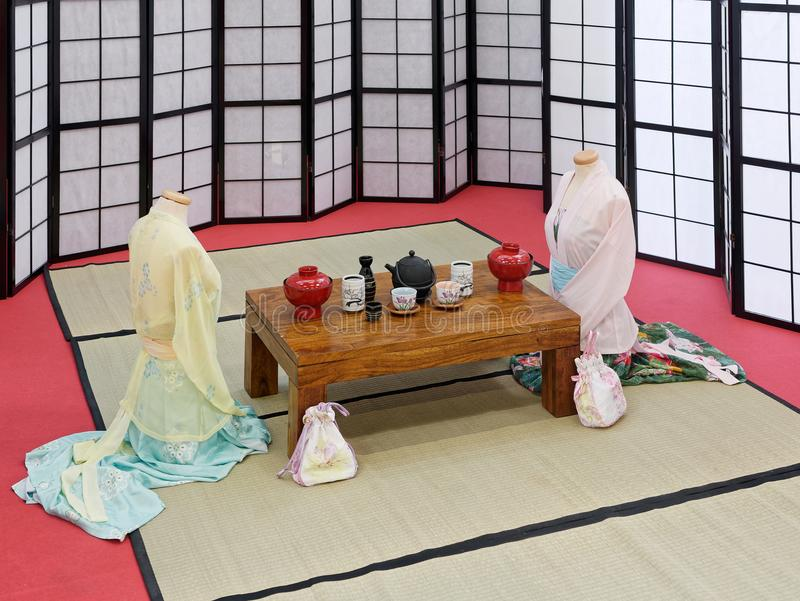 simulation of interior japanese house royalty free stock photos