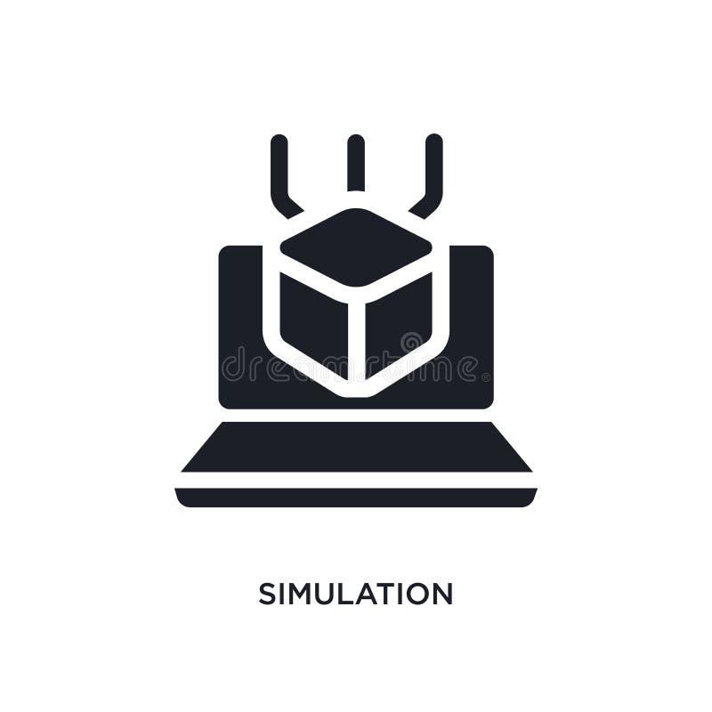 Simulation lokalisierte Ikone einfache Elementillustration von Programmierungskonzeptikonen Logozeichen-Symbolentwurf der Simulat vektor abbildung